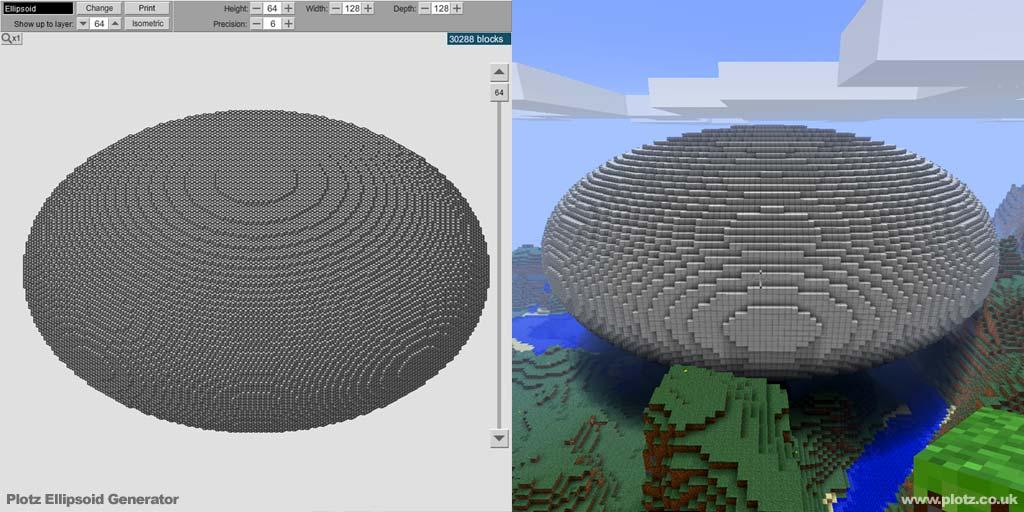 Minecraft ellipsoid generator