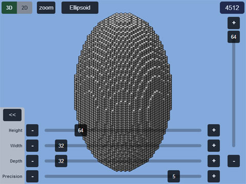 Plotz - Minecraft Ellispoid Generator