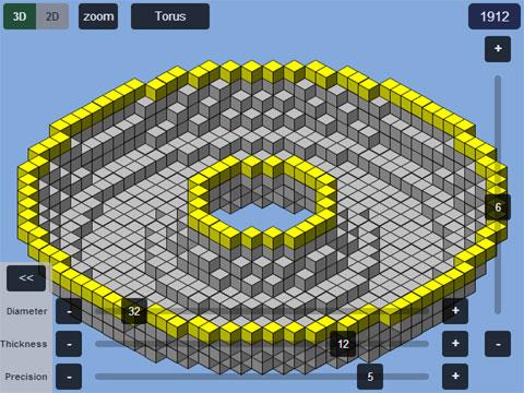 Plotz minecraft torus generator for Minecraft 3d blueprint maker